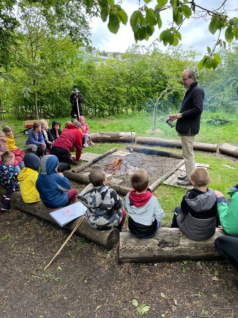 The Bishop of Hereford, Richard Jackson, at Forest School